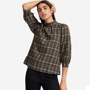 Everlane Lightweight Flannel Mockneck Shirt